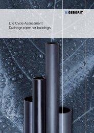 Life Cycle Assessment Drainage pipes for buildings - Geberit ...