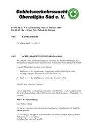 Protokoll zur Vorstandssitzung vom 15. Februar 2008 Um 20.15 Uhr ...