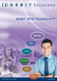 GEBIT RFID Plattform™ - Innovative IT-Lösungen ... - GEBIT Solutions