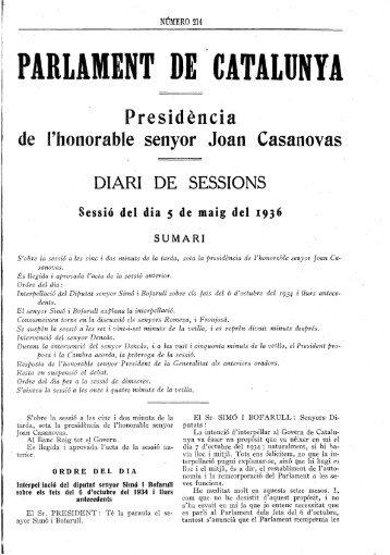 I DE SESSIONS - Parlament de Catalunya