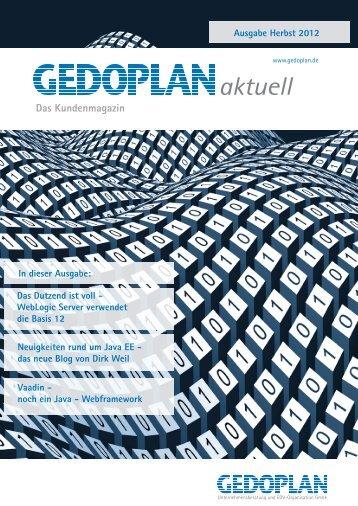Ausgabe Herbst 2012 - Gedoplan