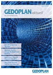 Ausgabe Frühjahr 2011 - Gedoplan