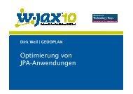 Optimierung von JPA-Anwendungen - Gedoplan