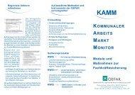 Kommunalen ArbeitsMarktMonitor KAMM - GEFAK