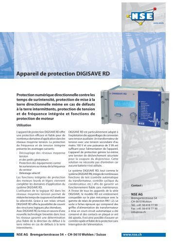 Appareil de protection DIGISAVE RD - NSE AG
