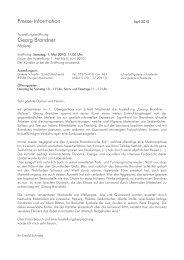 Presse-Information Georg Brandner - Galerie Schrade
