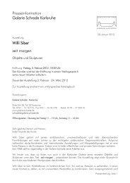 Presseinformation Galerie Schrade Karlsruhe Willi Siber seit morgen