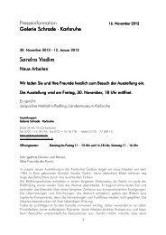 2012_Vadim, Sandro_Pressetext_Zirkel - Galerie Schrade