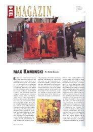 Max Kaminsk - Galerie Schrade