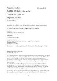 Siegfried Kreitner - Galerie Schrade
