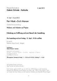 2013_Hrbek, Petr und Mansen ... - Galerie Schrade