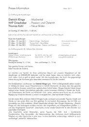 Presse-Information Dietrich Klinge - Mochental ... - Galerie Schrade