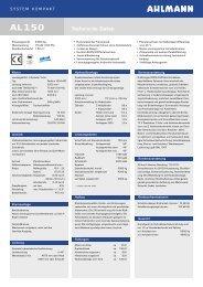 Technische Daten - Geiling Wideco