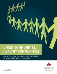 UNION COMMUNITIES, HEALTHY COMMUNITIES