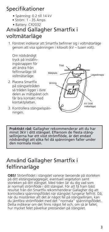 Använd Gallagher Smartfix i felfinnarläge ... - Gallagher.eu