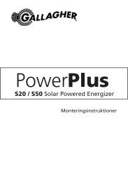 S20 / S50 Solar Powered Energizer - Gallagher.eu
