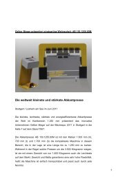 Gelber Bieger präsentiert einzigartige Weltneuheit: AB 150