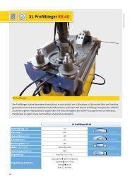 Profile bender XL RB 40 - Gelber-Bieger GmbH