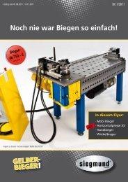 Noch nie war Biegen so einfach! - Gelber-Bieger GmbH