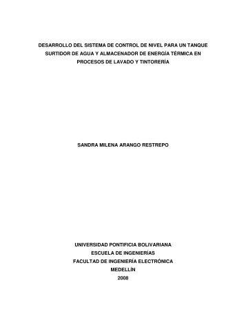 1 desarrollo del sistema de control de nivel para un tanque surtidor ...