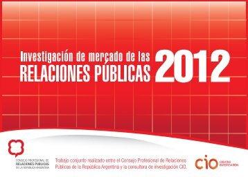 Investigación de mercado de las Relaciones Públicas 2012