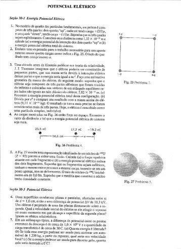 Lista de exercícios sobre potencial elétrico