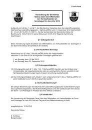 Verordnung der Gemeinde Ostrau über das Offenhalten von ...