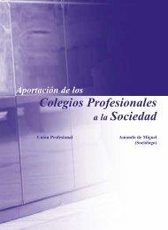 Aportación de los Colegios Profesionales Sociedad