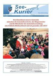 Ausgabe - Nr.12 vom 12. Dezember 2012 - Gemeinde Seddiner See