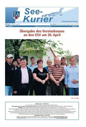 Ausgabe - Nr.06 vom 20. Juni 2012 - Gemeinde Seddiner See