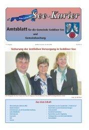 Sicherung der ärztlichen Versorgung in Seddiner See - Gemeinde ...