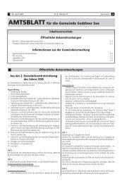 AMTSBLATT für die Gemeinde Seddiner See