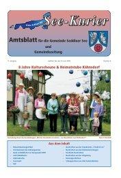 8 Jahre Kulturscheune & Heimatstube Kähnsdorf - Gemeinde ...