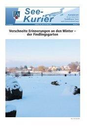 Verschneite Erinnerungen an den Winter – der Findlingsgarten