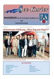 """Gemeinsame Erklärung """"Ohne Zug zum Flug???"""" - Gemeinde ..."""