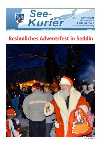 Besinnliches Adventsfest in Seddin - Gemeinde Seddiner See