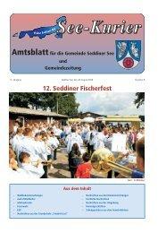 12. Seddiner Fischerfest - Gemeinde Seddiner See