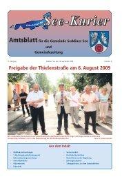 Freigabe der Thielenstraße am 6. August 2009 - Gemeinde ...