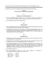 Auszug aus der Satzung f'U4r die Erhebung eines ... - Gemeinde Inzell