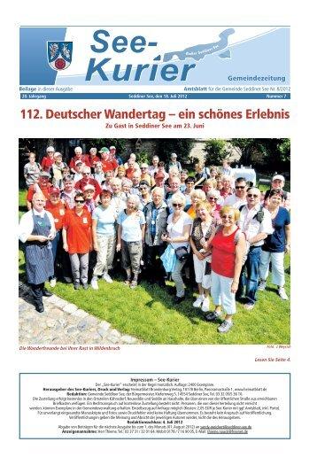 Ausgabe - Nr.07 vom 18. Juli 2012 - Gemeinde Seddiner See