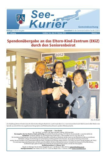 Ausgabe - Nr.2 vom 27. Februar 2013 - Gemeinde Seddiner See
