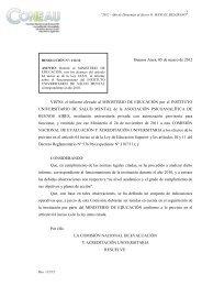 Buenos Aires, 05 de marzo de 2012 VISTO: el informe ... - Coneau