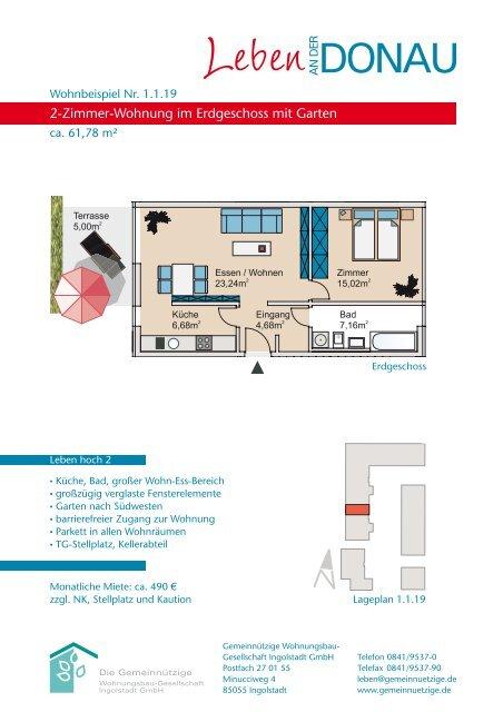 2-Zimmer-Wohnung im Erdgeschoss mit Garten - Gemeinnützige ...