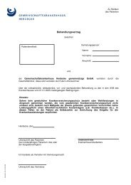 Behandlungsvertrag - Gemeinschaftskrankenhaus Herdecke