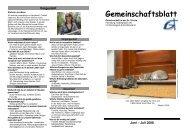 Gemeinschaftsblatt - Gemeinschaft-flensburg.de