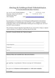 Anmeldeformular - Gemeinschaftskrankenhaus Herdecke