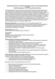 Weiterbildungsportfolio der Fachabteilung für Anästhesiologie im ...