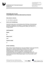Weiterbildungscurriculum - Innere Medizin am ...