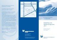 Einladung zum Palliativsymposium 2011