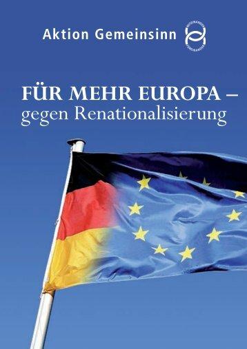 FÜR MEHR EUROPA - Aktion Gemeinsinn